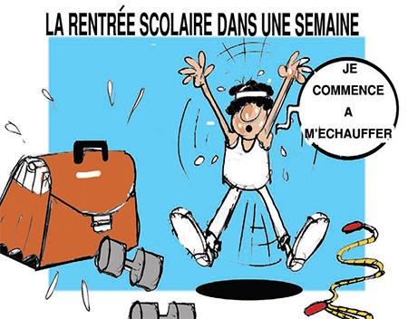 La rentrée scolaire dans une semaine - Dessins et Caricatures, Jony-Mar - La voix de l'Oranie - Gagdz.com