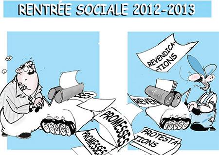 Rentrée sociale 2012-2013 - Dessins et Caricatures, Jony-Mar - La voix de l'Oranie - Gagdz.com