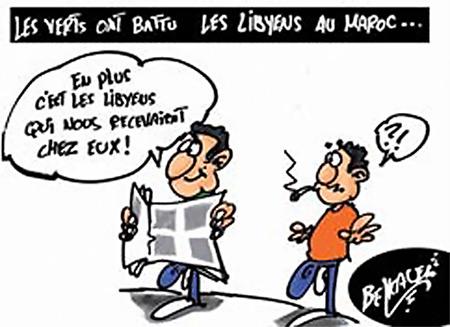 Les verts ont battu les libyens au Maroc - Belkacem - Le Courrier d'Algérie, Dessins et Caricatures - Gagdz.com