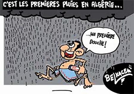 C'est les premieres pluies en Algérie - Belkacem - Le Courrier d'Algérie, Dessins et Caricatures - Gagdz.com