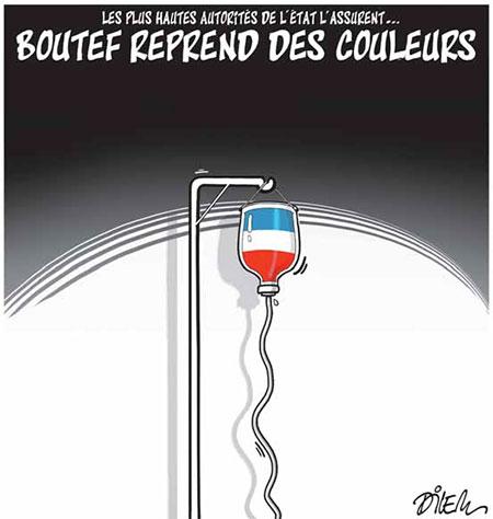 Boutef reprend des couleurs - Dessins et Caricatures, Dilem - Liberté - Gagdz.com