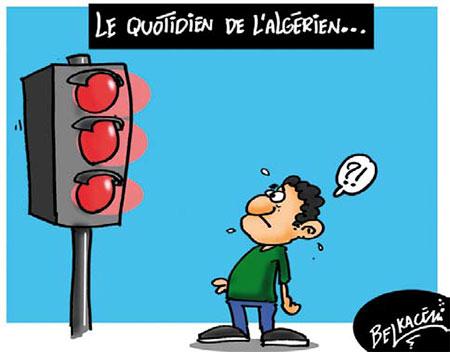 Le quotidien de l'algérien - Belkacem - Le Courrier d'Algérie, Dessins et Caricatures - Gagdz.com