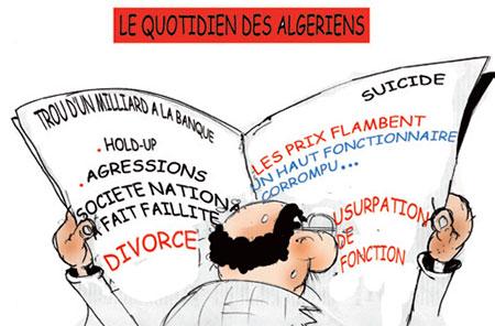 Le quotidien des algériens - Dessins et Caricatures, Jony-Mar - La voix de l'Oranie - Gagdz.com