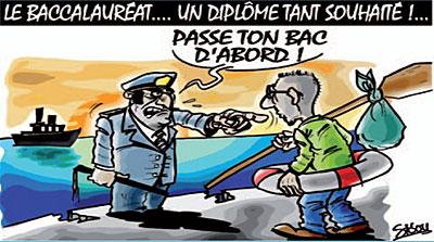 Le baccalauréat, un diplome tant souhaité - Dessins et Caricatures, Sidou - Gagdz.com