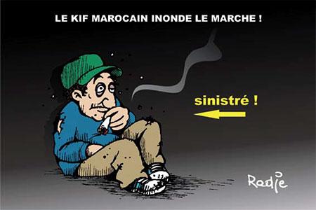 Le kif marocain inonde le marché - Dessins et Caricatures, Ghir Hak - Les Débats - Gagdz.com