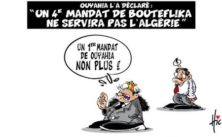 Ouyahia l'a déclaré: Un 4e mandat de Bouteflika ne servira pas l'Algérie - Dessins et Caricatures, Le Hic - El Watan - Gagdz.com