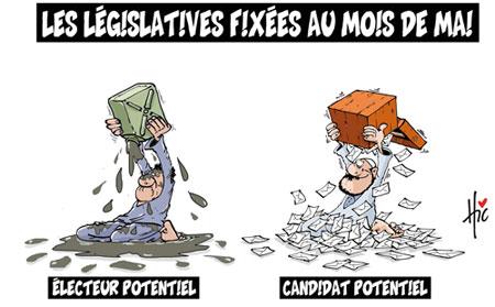 Les législatives fixées au mois de mai - Dessins et Caricatures, Le Hic - El Watan - Gagdz.com