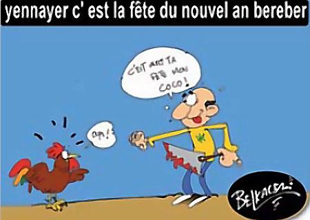 Yennayer c'est la fête du nouvel an berbère - Belkacem - Le Courrier d'Algérie, Dessins et Caricatures - Gagdz.com