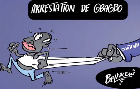 Arrestation de Gbagbo - Belkacem - Le Courrier d'Algérie, Dessins et Caricatures - Gagdz.com