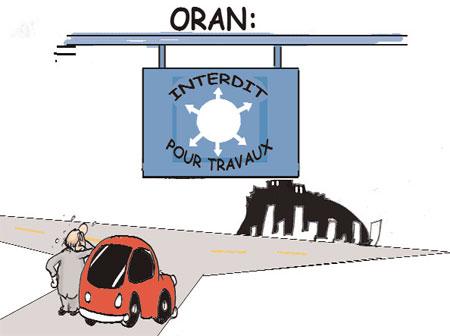 Oran fermée pour travaux - Oran - Gagdz.com