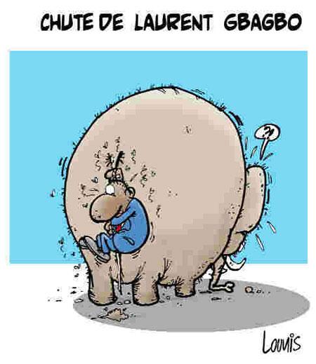 Chute de Laurent Gbagbo - Dessins et Caricatures, Lounis Le jour d'Algérie - Gagdz.com