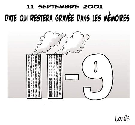 11 septembre 2001: Date qui restera gravée dans les mémoires - Dessins et Caricatures, Lounis Le jour d'Algérie - Gagdz.com