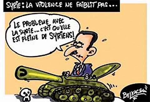 Syrie: La violence ne faiblit pas - Belkacem - Le Courrier d'Algérie, Dessins et Caricatures - Gagdz.com