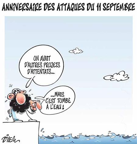 Anniversaire des attaques du 11 septembre - Dessins et Caricatures, Dilem - Liberté - Gagdz.com