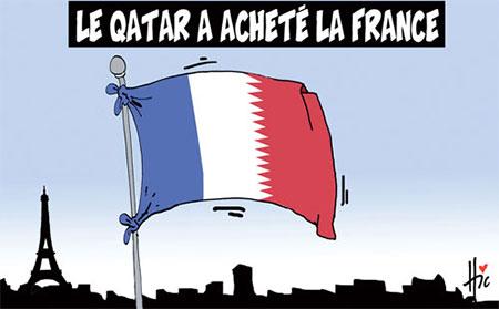 Le Qatar a acheté la France - Dessins et Caricatures, Le Hic - El Watan - Gagdz.com
