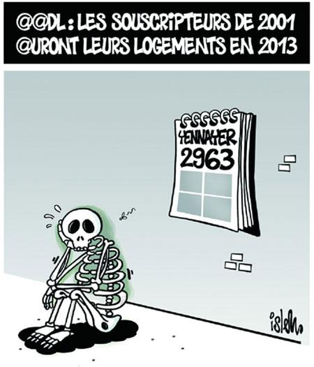 AADL: Les souscripteurs de 2011 auront leurs logements en 2013 - Dessins et Caricatures, Islem - Le Temps d'Algérie - Gagdz.com
