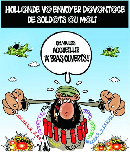 Hollande va envoyer davantage de soldats au Mali - Dessins et Caricatures, Islem - Le Temps d'Algérie - Gagdz.com