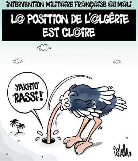 Intervention militaire française au Mali: La position de l'Algérie est claire - Dessins et Caricatures, Islem - Le Temps d'Algérie - Gagdz.com