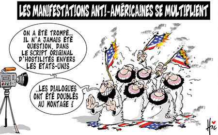 Les manifestations anti-américaines se multiplient - Dessins et Caricatures, Le Hic - El Watan - Gagdz.com
