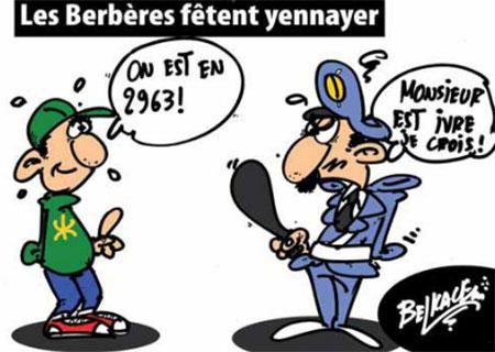 Les Berbères fêtent yennayer - Belkacem - Le Courrier d'Algérie, Dessins et Caricatures - Gagdz.com