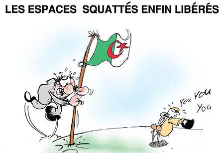 Les espaces squatés enfin libérés - Dessins et Caricatures, Jony-Mar - La voix de l'Oranie - Gagdz.com