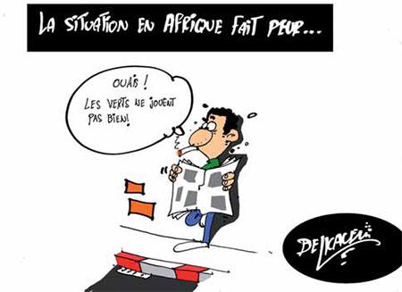 La situation en Afrique fait peur - Belkacem - Le Courrier d'Algérie, Dessins et Caricatures - Gagdz.com