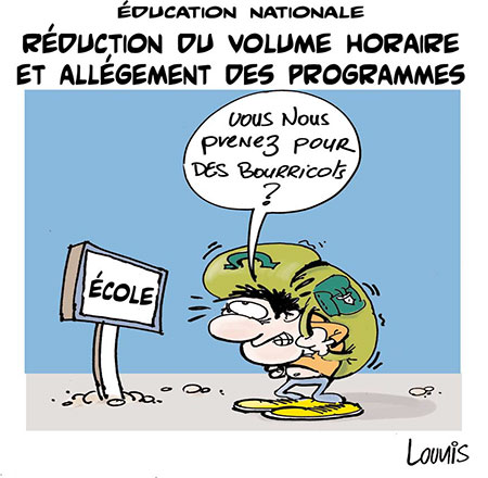 Education nationale: Réduction du volume horaire et allégement des programmes - nationale - Gagdz.com