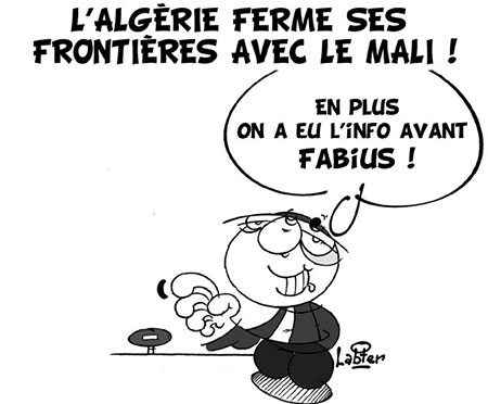 L'Algérie ferme ses frontières avec le Mali - Dessins et Caricatures, Vitamine - Le Soir d'Algérie - Gagdz.com