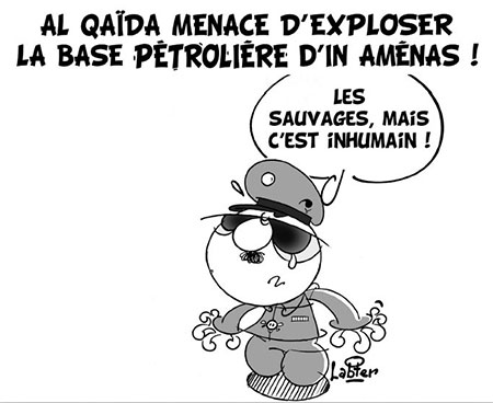 Al qaida menace d'exploser la base pétrolière d'In Aménas - Dessins et Caricatures, Vitamine - Le Soir d'Algérie - Gagdz.com