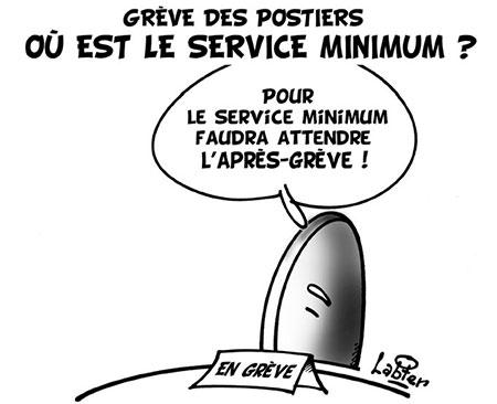 Grêve des postiers: Ou est le service minimum ? - Dessins et Caricatures, Vitamine - Le Soir d'Algérie - Gagdz.com