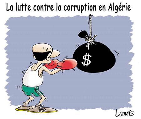 La lutte contre la corruption en Algérie - Dessins et Caricatures, Lounis Le jour d'Algérie - Gagdz.com