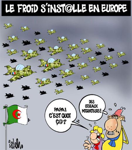 Le froid s'installe en Europe - Dessins et Caricatures, Islem - Le Temps d'Algérie - Gagdz.com