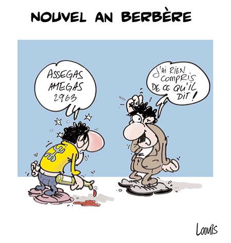 Nouvel an berbère - Dessins et Caricatures, Lounis Le jour d'Algérie - Gagdz.com