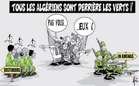 Tous les algériens derrière les verts - Dessins et Caricatures, Le Hic - El Watan - Gagdz.com