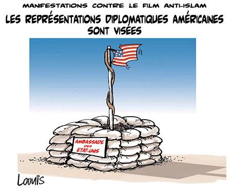 Manifestations contre le film anti-islam: Les représentations diplomatiques américaines sont visées - film - Gagdz.com