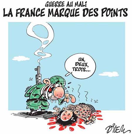 Guerre au Mali: La France marque des points - Dessins et Caricatures, Dilem - Liberté - Gagdz.com