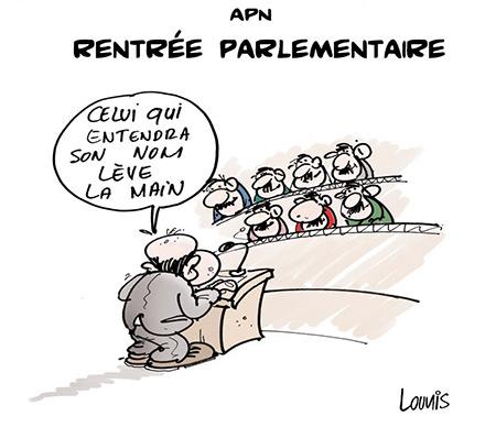 APN: Rentrée parlementaire - Dessins et Caricatures, Lounis Le jour d'Algérie - Gagdz.com