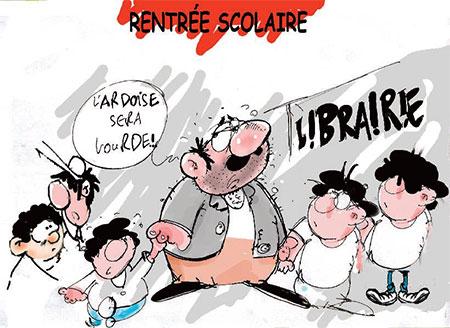 Rentrée scolaire - Dessins et Caricatures, Jony-Mar - La voix de l'Oranie - Gagdz.com