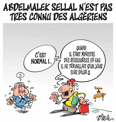 Abdelmalek Sellal n'est pas très connu des algériens - Dessins et Caricatures, Dilem - Liberté - Gagdz.com