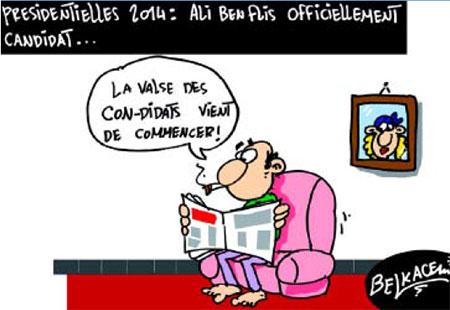 Présidentielles 2014: Ali Ben Flis officiellement candidat - Belkacem - Le Courrier d'Algérie, Dessins et Caricatures - Gagdz.com