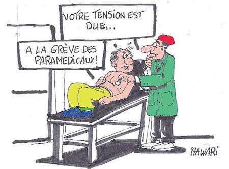 Grève des paramédicaux - Dessins et Caricatures, Hawari - La Tribune des Lecteurs - Gagdz.com