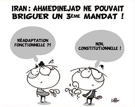 Iran: Ahmedinejad ne pouvait briguer un 3ème mandat - Dessins et Caricatures, Vitamine - Le Soir d'Algérie - Gagdz.com