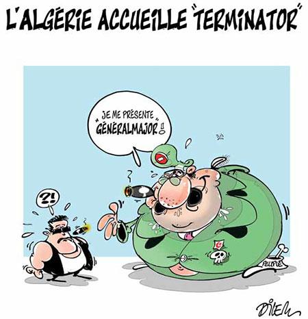 L'Algérie accueille Terminator - Dessins et Caricatures, Dilem - Liberté - Gagdz.com