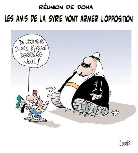 Les amis de la Syrie vont armer l'opposition - Dessins et Caricatures, Lounis Le jour d'Algérie - Gagdz.com