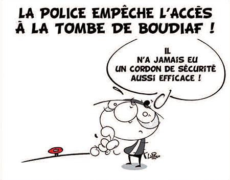 police empêche l'accès à la tombe de Boudiaf - Dessins et Caricatures, Vitamine - Le Soir d'Algérie - Gagdz.com
