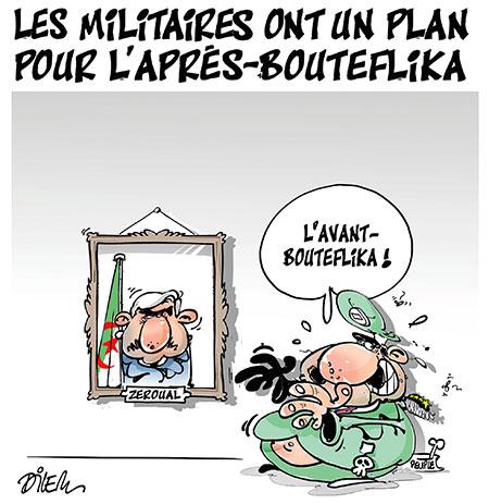 Les militaires ont un plan pour l'après Bouteflika - Dessins et Caricatures, Dilem - Liberté - Gagdz.com