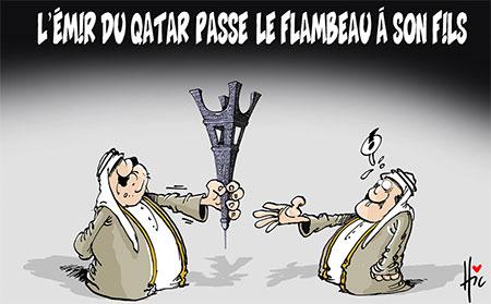 'L'émir du Qatar passe le flambeau à son fils - Dessins et Caricatures, Le Hic - El Watan - Gagdz.com