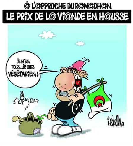 Le prix de la viande en hausse - Belkacem - Le Courrier d'Algérie, Dessins et Caricatures - Gagdz.com