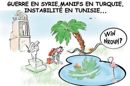 Guerre en Syrie, manifs en Turquie, instabilité en Tunisie - Dessins et Caricatures, Jony-Mar - La voix de l'Oranie - Gagdz.com