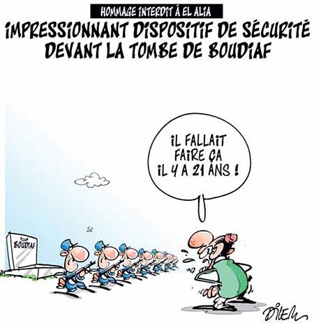 Impressionnant dispositif de sécurité devant la tombe de Boudiaf - devant - Gagdz.com